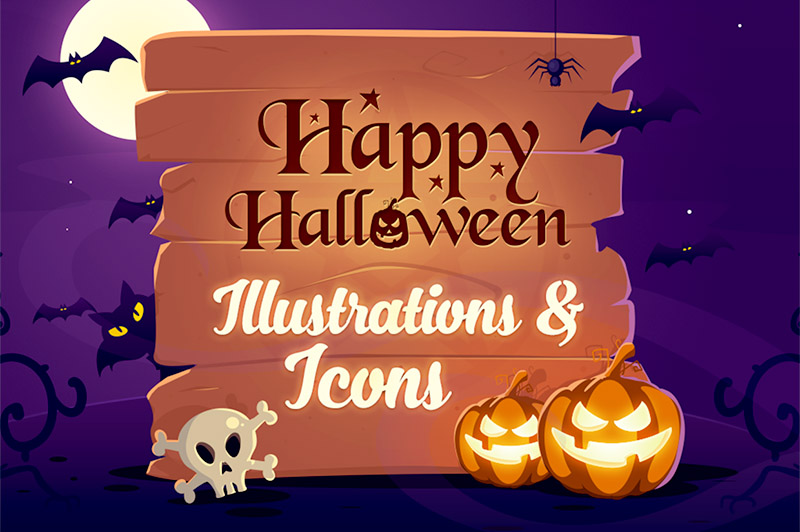 Free Halloween Illustrations & Icons