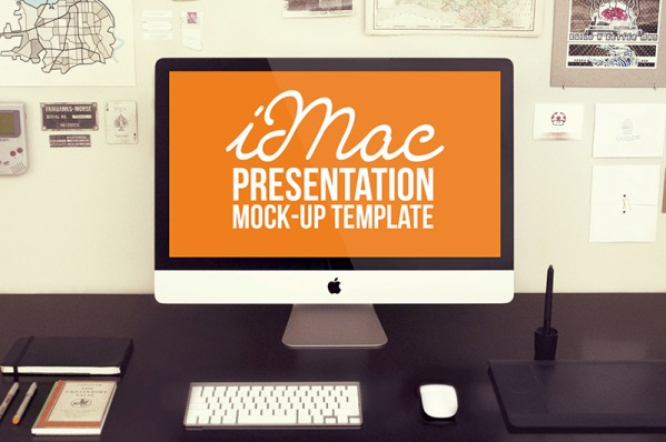 Free iMac Mock-up Template
