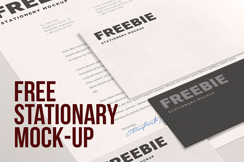Free Stationary Mock-up
