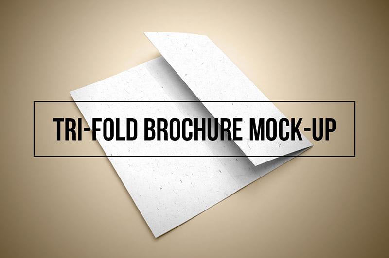 Free Tri-fold Brochure Mockup Template