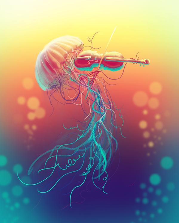 Jellyfiddler by KikiTheMonkey