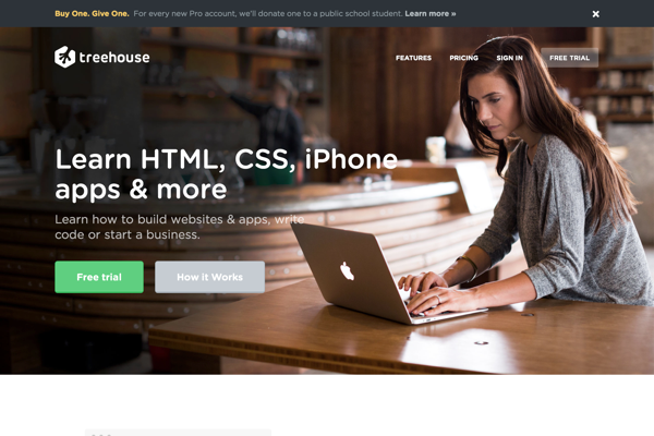 Learn Web Design, Web Development, and More | Treehouse (20141027)