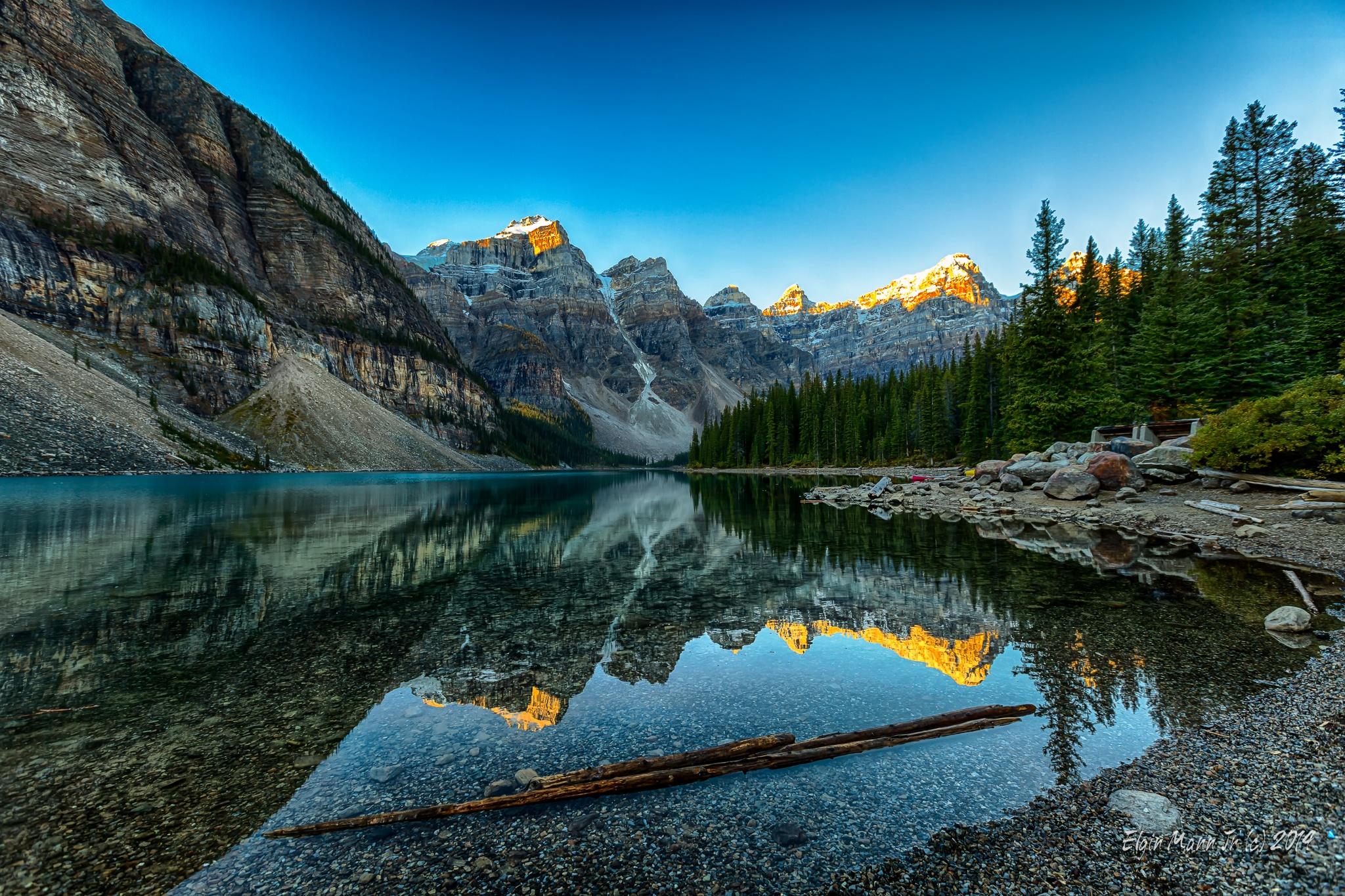 Moraine Lake at Sunrise, Banff National Park by Elgin Mann