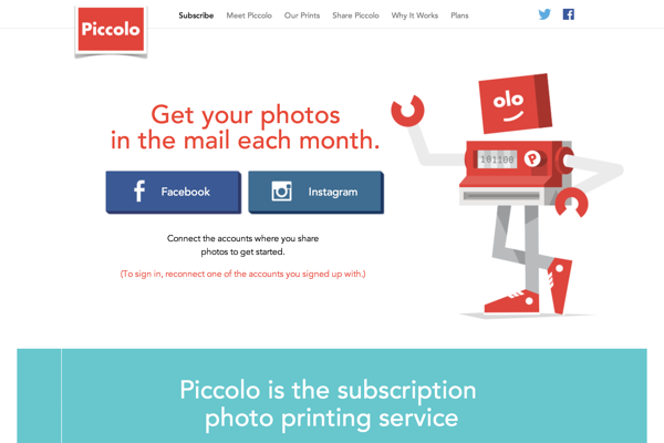 Piccolo.is Monthly Subscription Social Photo Printing (20141027)