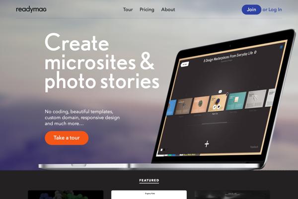 Readymag — Web publishing tool for creatives (20141027)