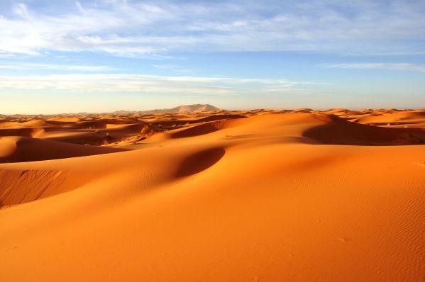 Sea of dunes in Merzouga, Morocco