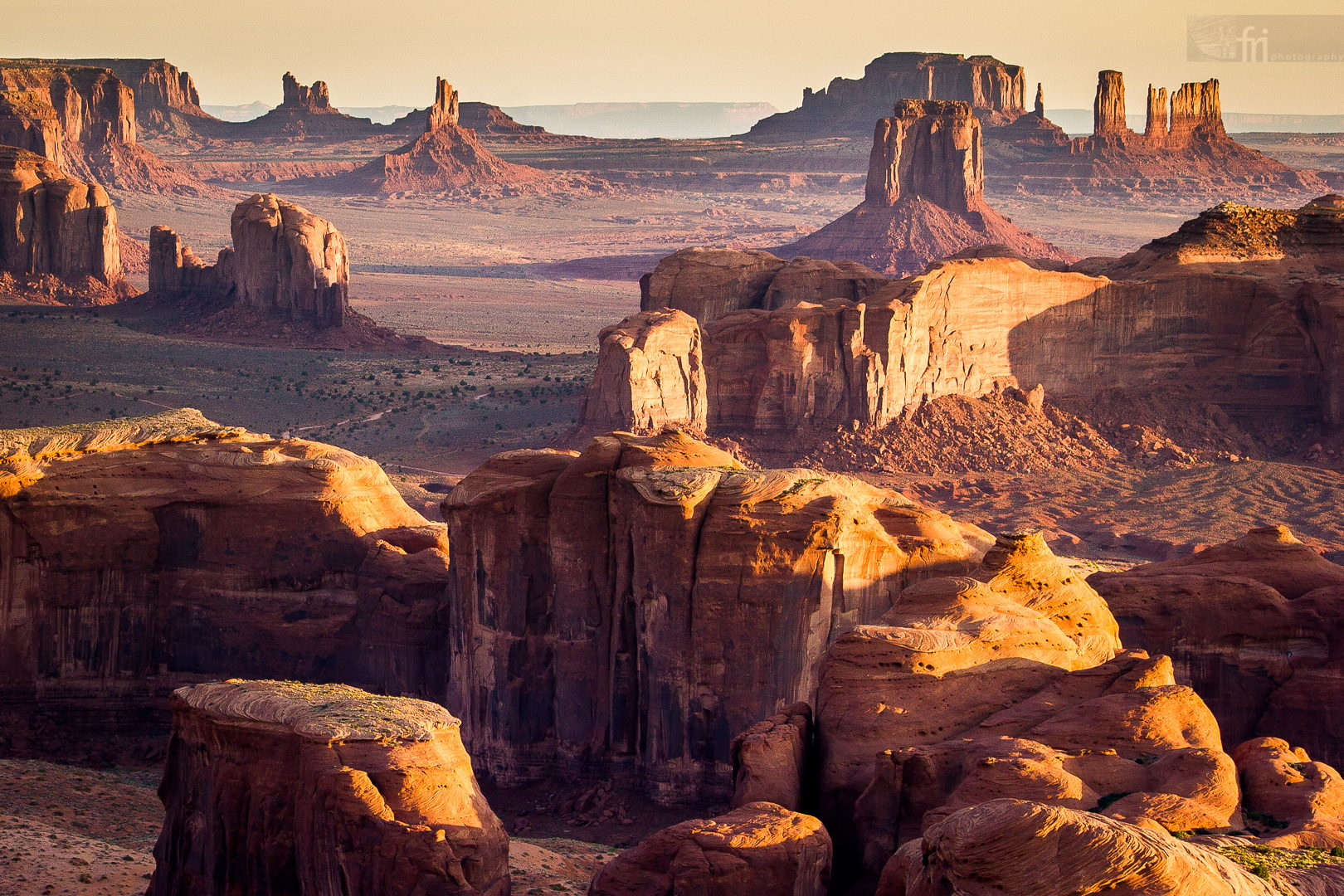 Sunrise over the Monument Valley, view from the Hunt's Mesa by Francesco Riccardo Iacomino