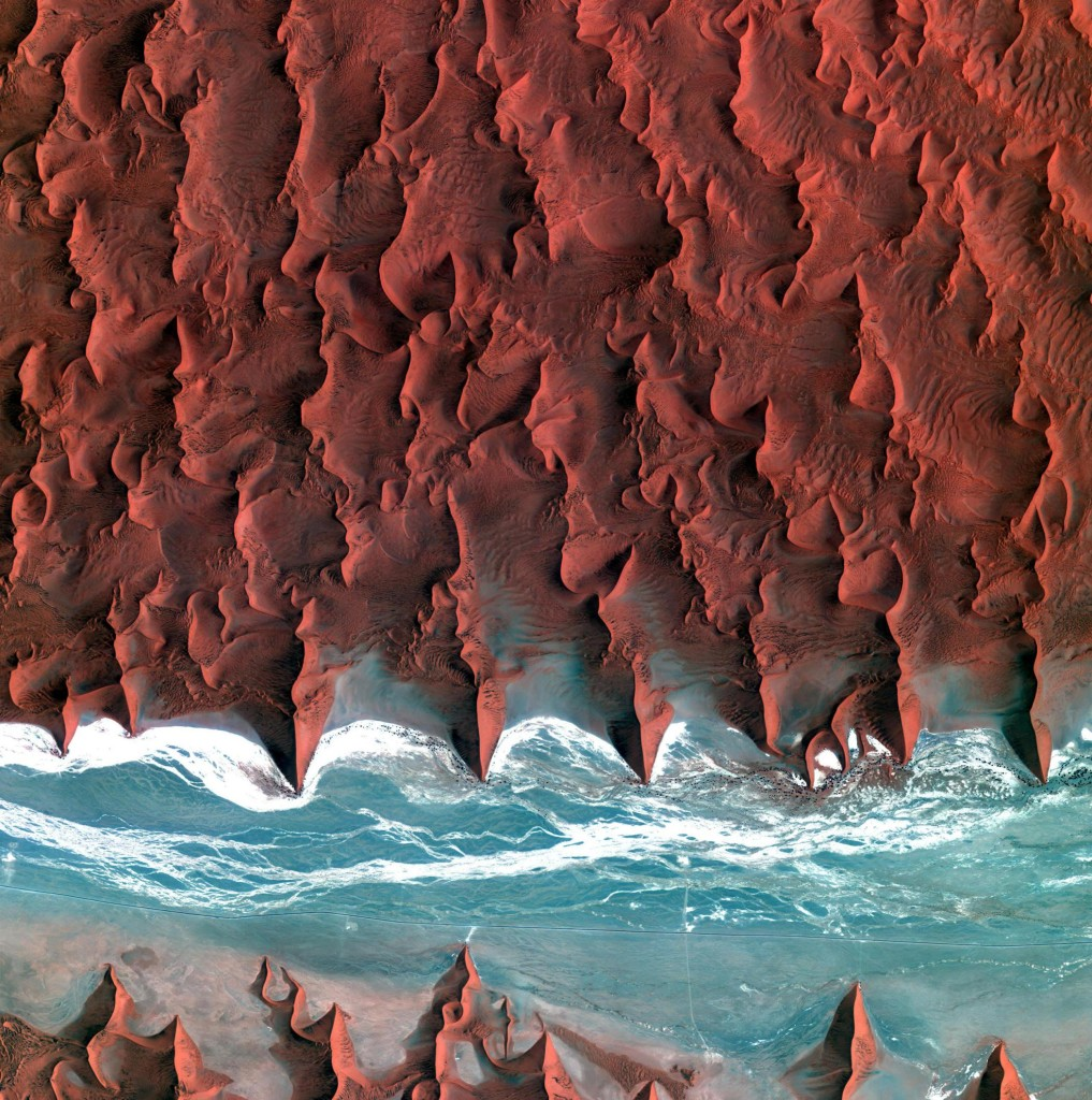The Namib desert from Space.