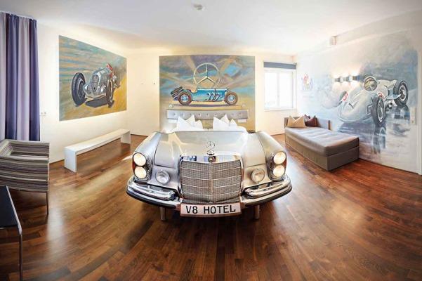 V8 Car Themed Hotel in Stuttgart, Germany1