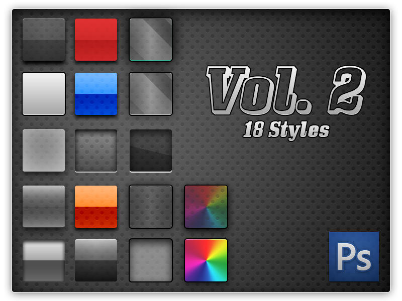 18 styles by artistx 750+ Free Photoshop Layer Styles