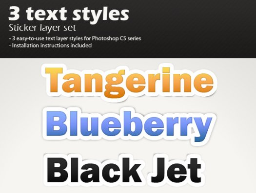 3 sticker layer styles 750+ Free Photoshop Layer Styles