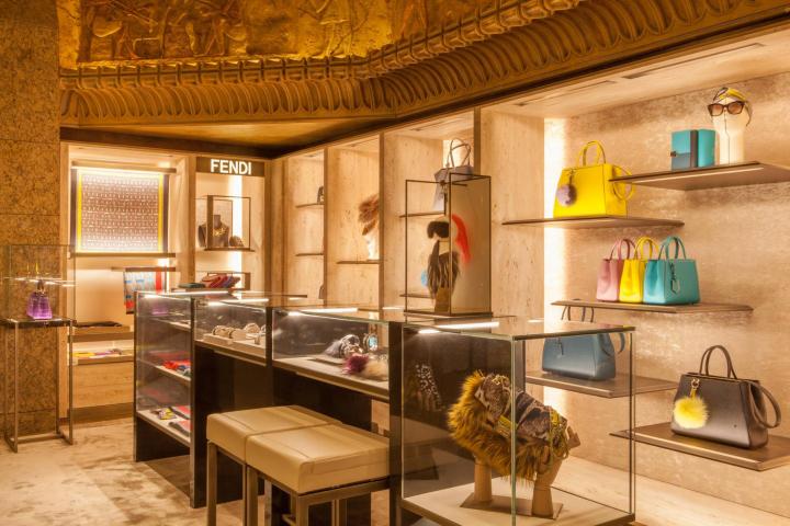 Fendi leathergoods corner at Harrods, London – UK