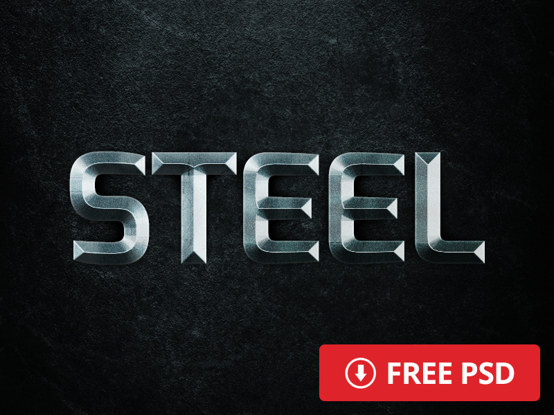 free steel layer style by alex broekhuizen 750+ Free Photoshop Layer Styles