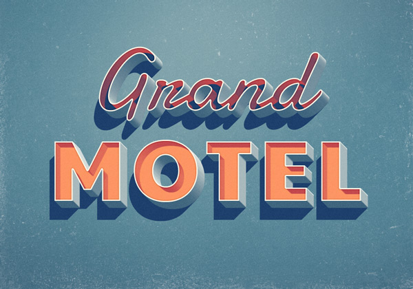 grand motel text effect 750+ Free Photoshop Layer Styles