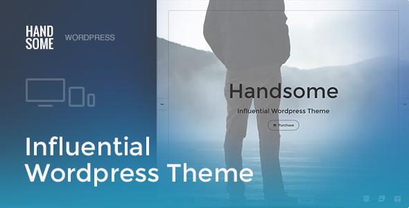 Handsome | Responsive Influential WordPress Theme