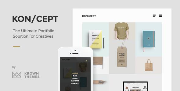 KON:CEPT - A Portfolio Theme for Creative People