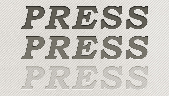 letterpress styles preview 750+ Free Photoshop Layer Styles