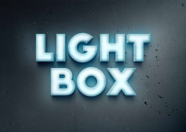 lightbox text effect 750+ Free Photoshop Layer Styles