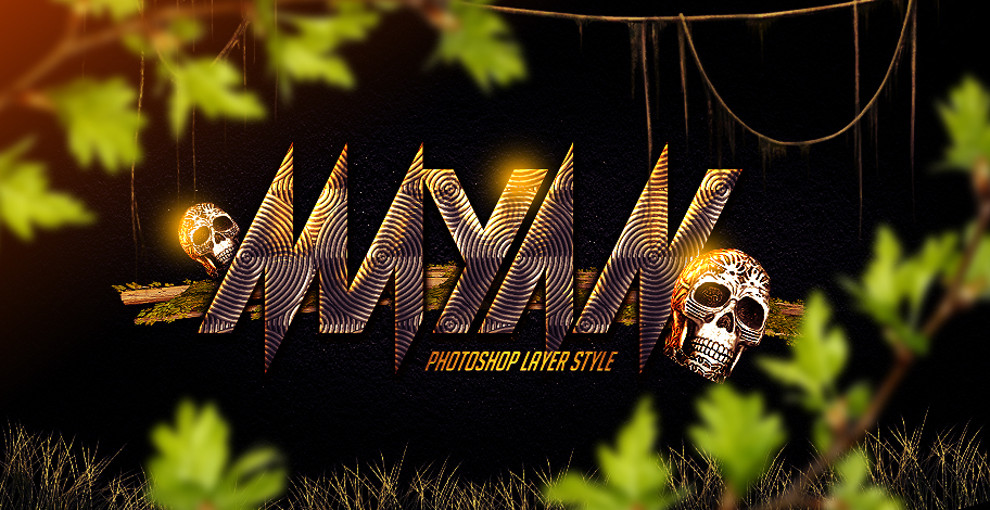 mayan photoshop layer style by industrykidz 750+ Free Photoshop Layer Styles