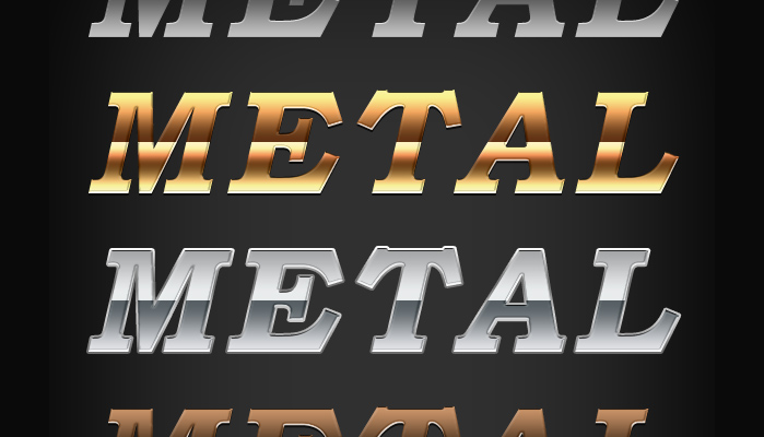 metal text effects 750+ Free Photoshop Layer Styles