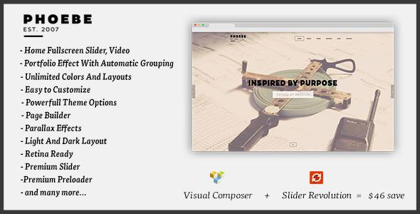 Phoebe - One Page Responsive WordPress Theme