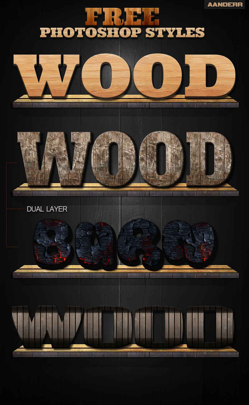 photoshop wood styles 750+ Free Photoshop Layer Styles