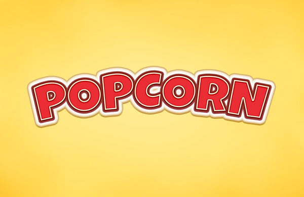 popcorn text effect 750+ Free Photoshop Layer Styles