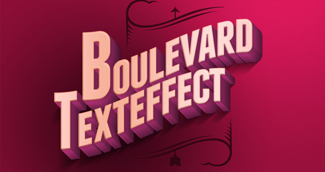 psd boulevard retro text effect 750+ Free Photoshop Layer Styles