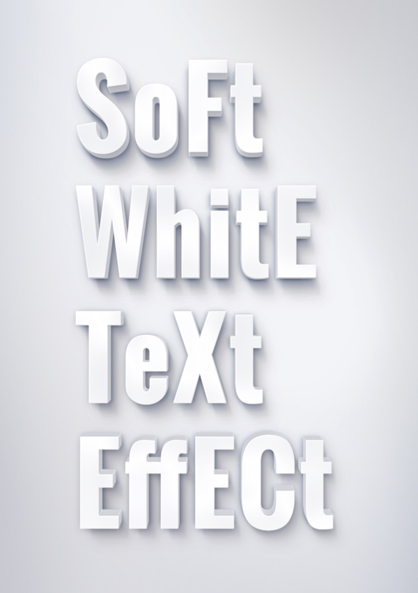 soft white text effect 750+ Free Photoshop Layer Styles