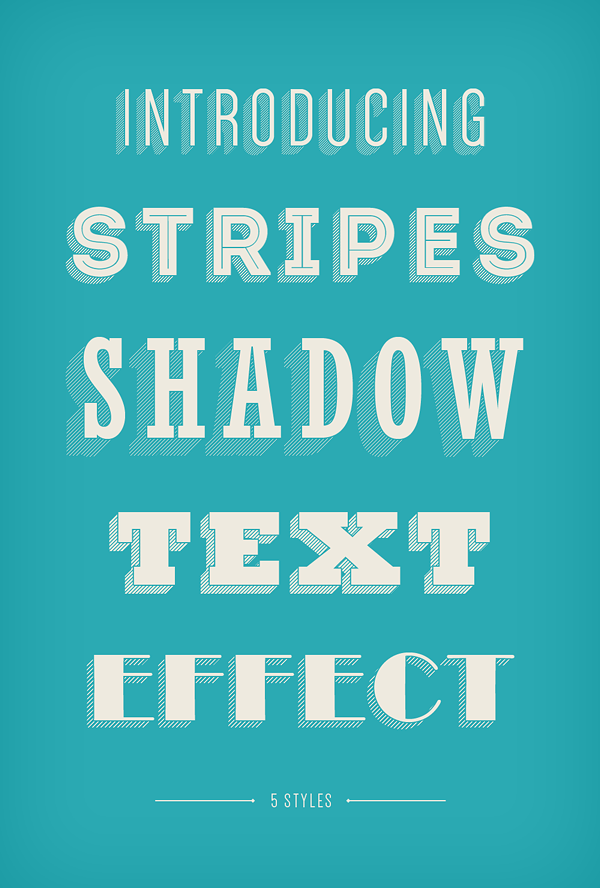 stripes shadow text effect 750+ Free Photoshop Layer Styles