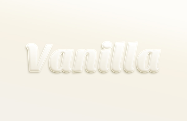 vanilla text effect 750+ Free Photoshop Layer Styles