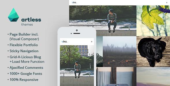 Vinz - Portfolio & Blog WordPress Theme