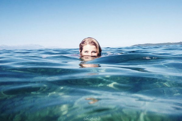 When I first saw you I was deep in clear blue water by Natalia Ancora